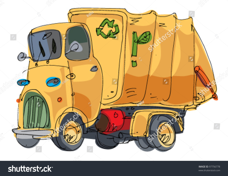 garbage truck cartoon - photo #16