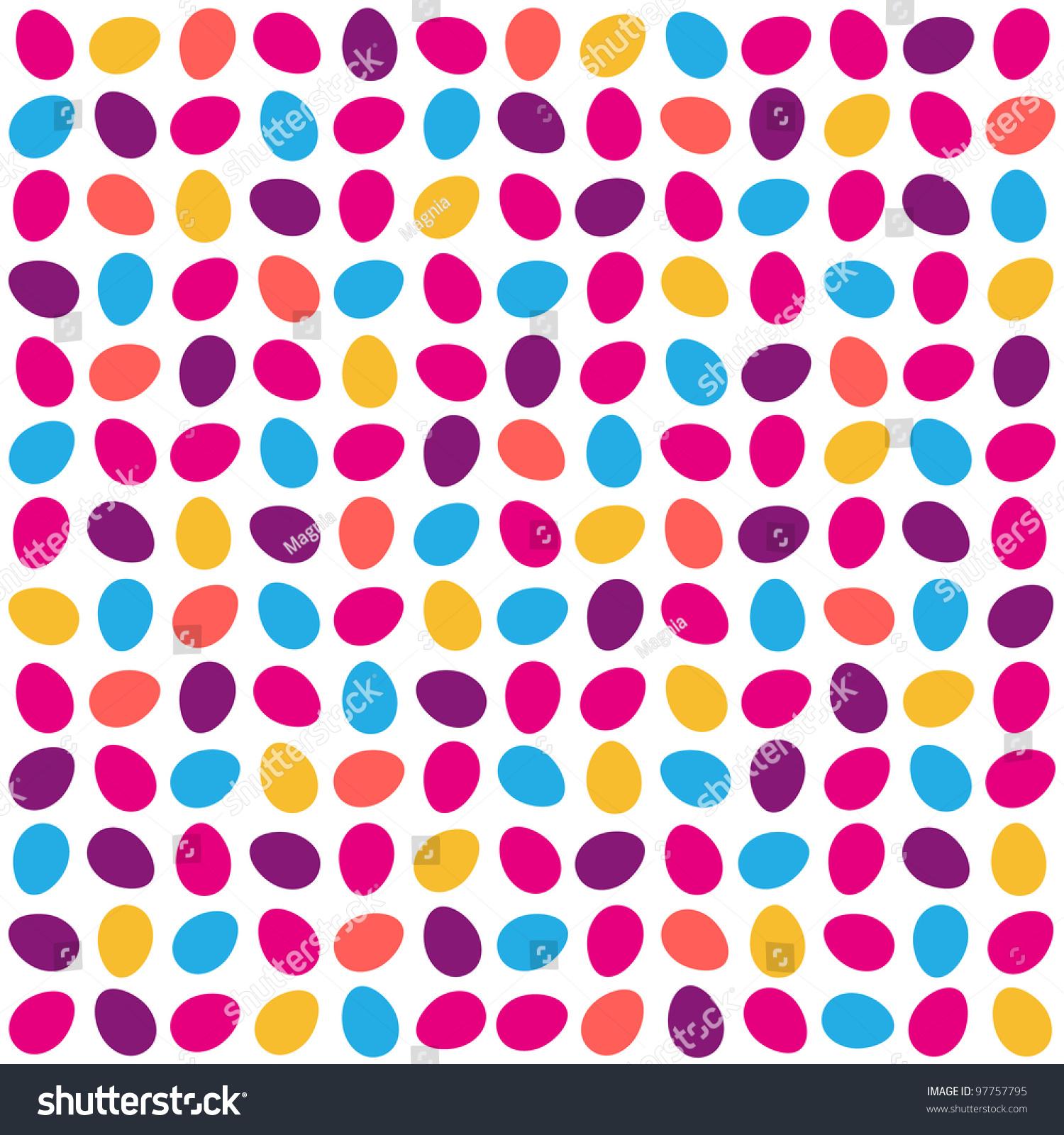 Colorful Egg Pattern On White Background Stock Vector Illustration ...