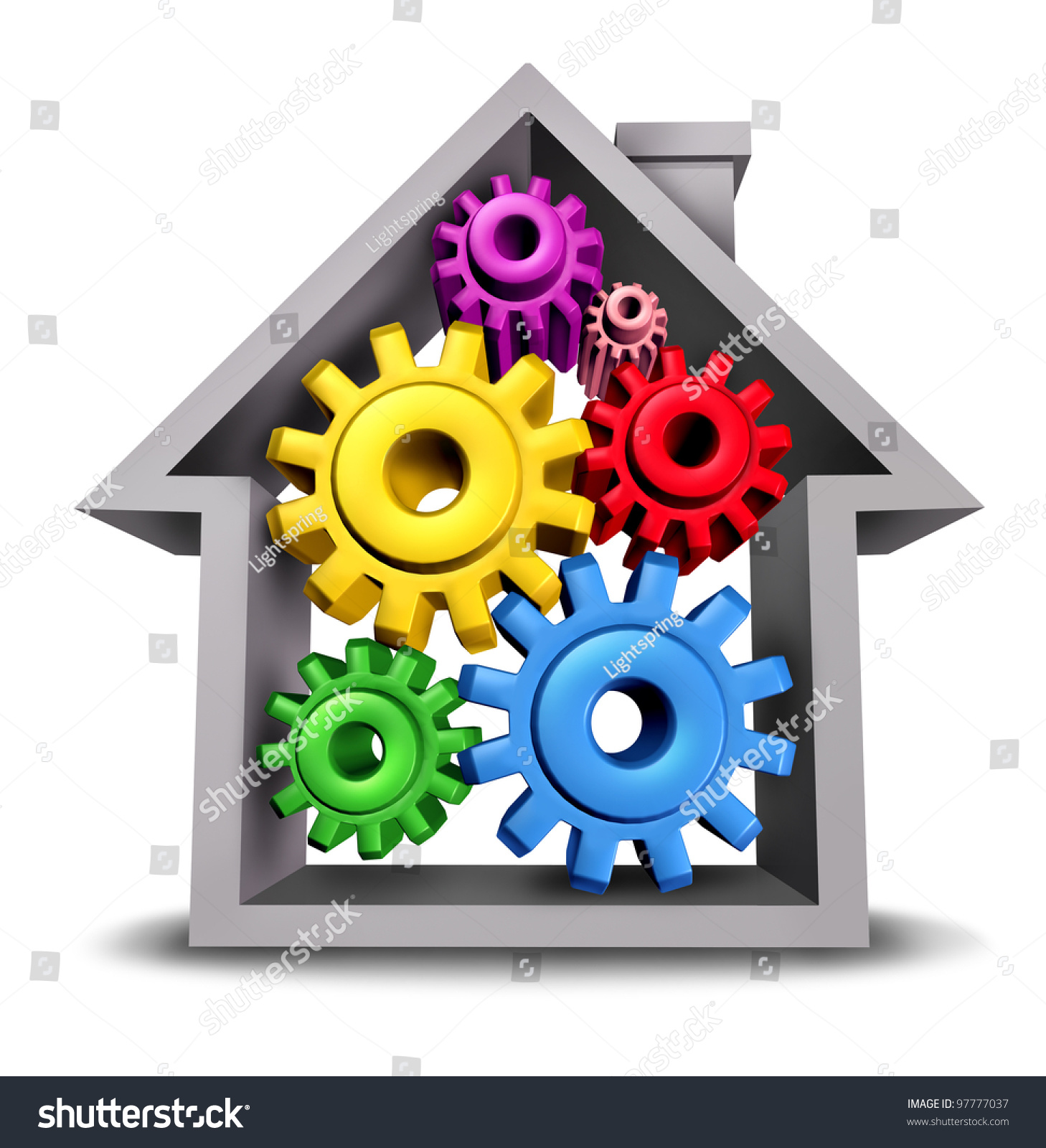 Housing Business Home Economics Represented By Stock Illustration ...