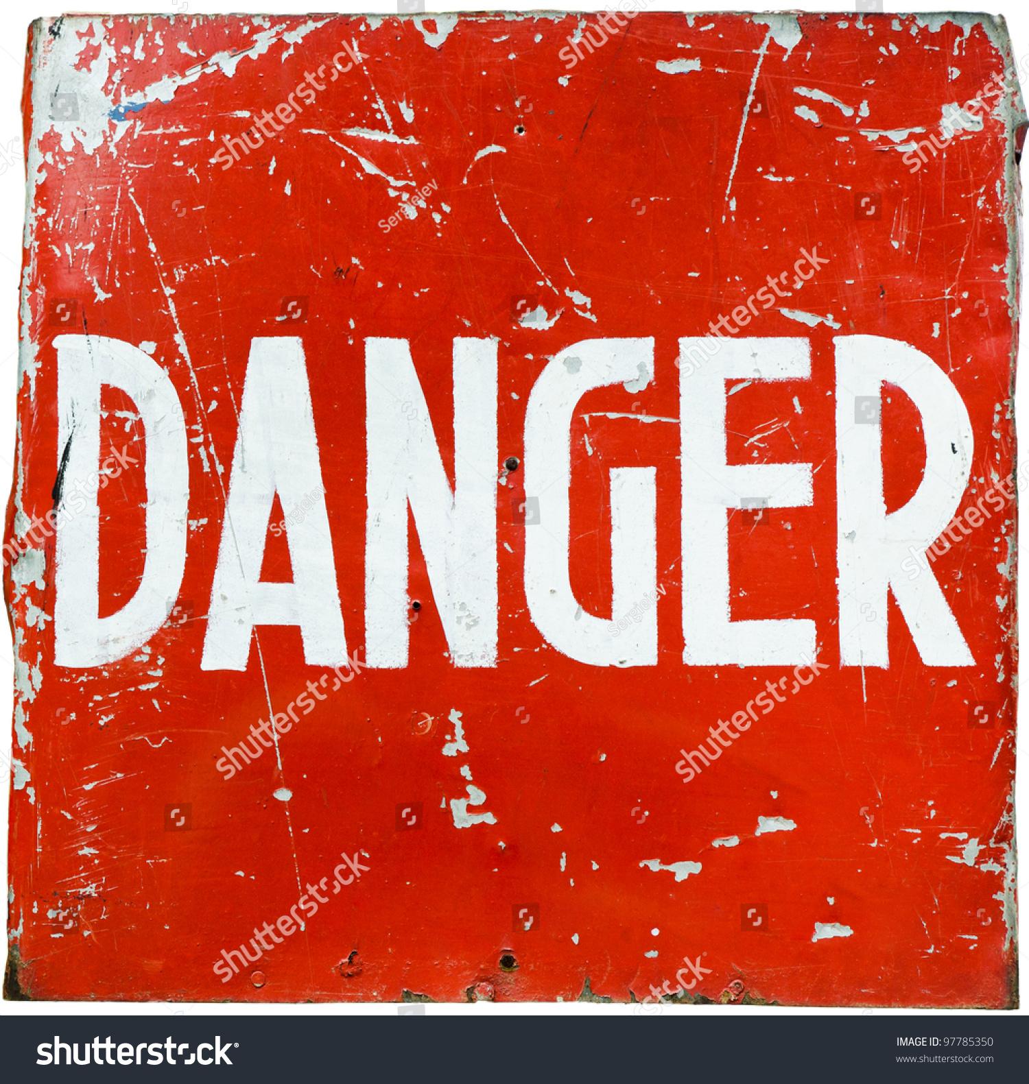 Word Danger On Red Shield Ultimate Stock Photo 97785350 - Shutterstock