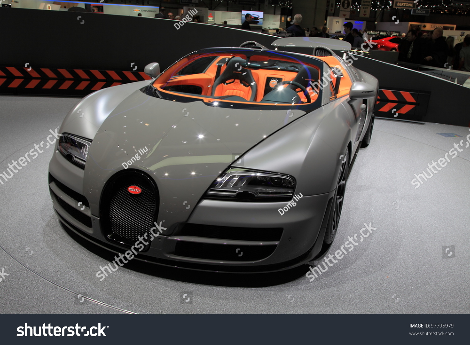geneva march 8 a bugatti veyron grand sport vitesse car on display at 82th. Black Bedroom Furniture Sets. Home Design Ideas