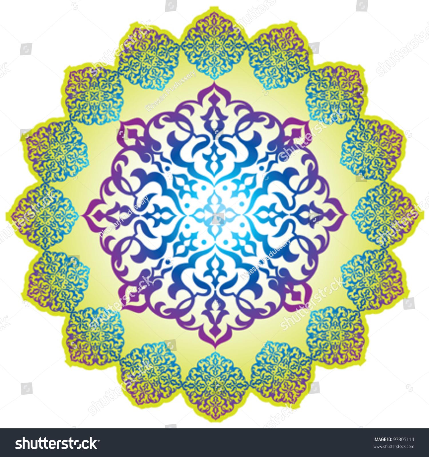 Arabic Pattern Background Islamic Design Stock Vector