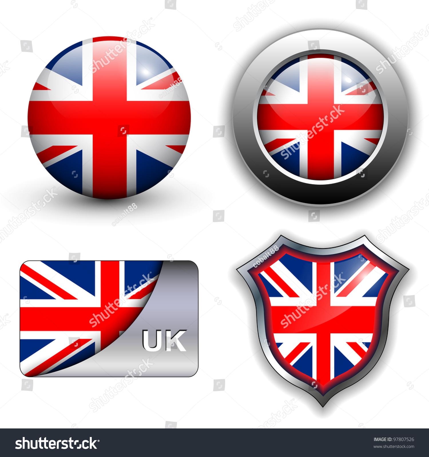 Thame United Kingdom  city photos : United Kingdom; Uk Flag Icons Theme. Stock Vector Illustration ...
