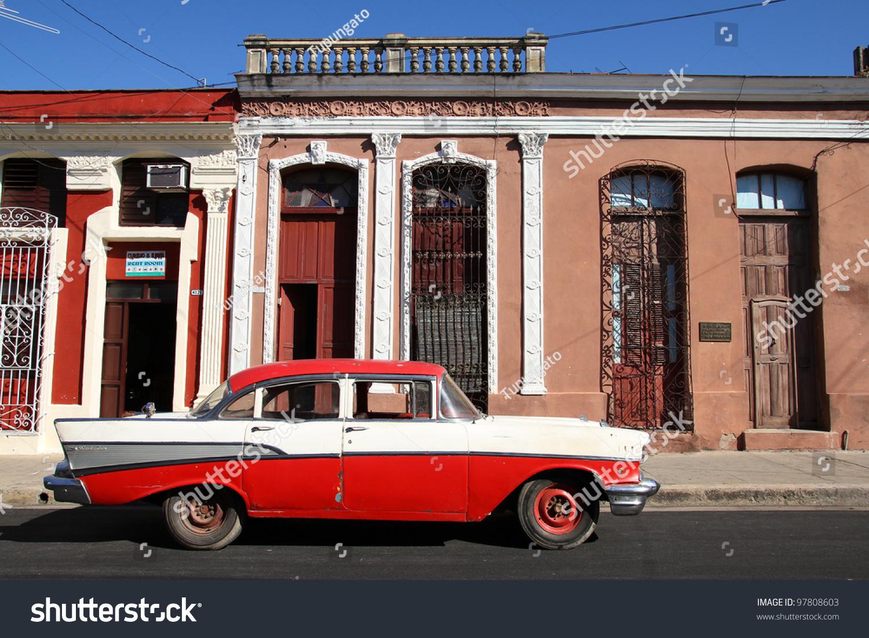 CIENFUEGOS CUBA FEBRUARY 3 Classic Old Stock Photo (Royalty Free ...