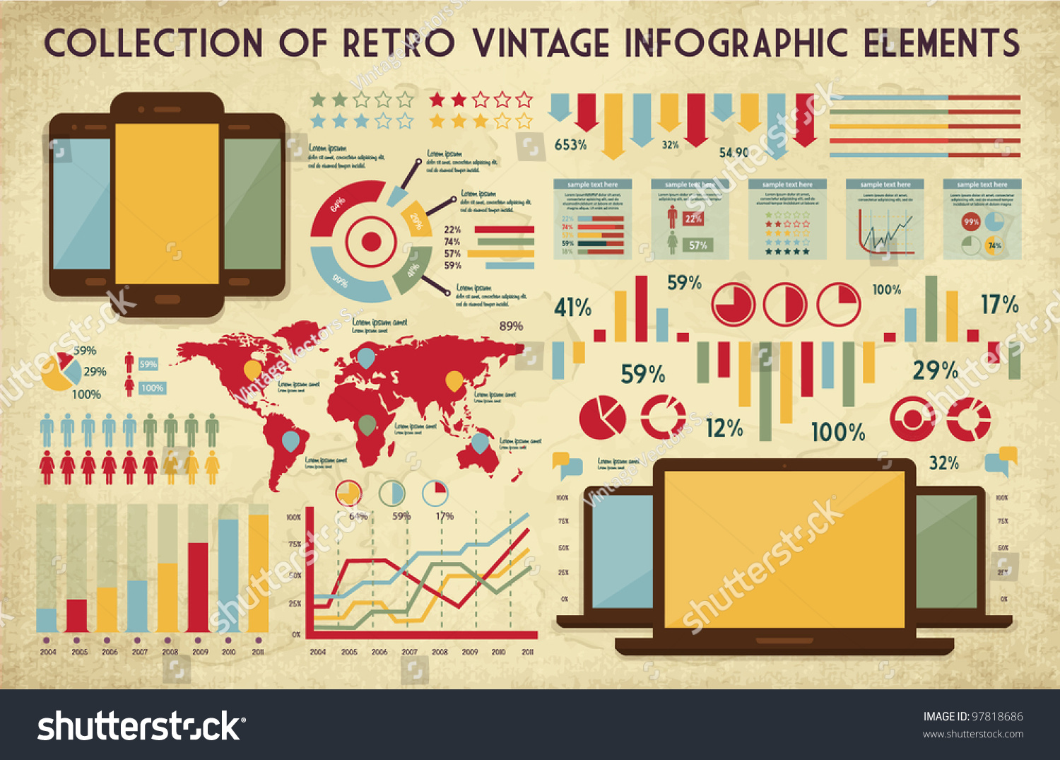 Infographic and diagram design elements vector set 84