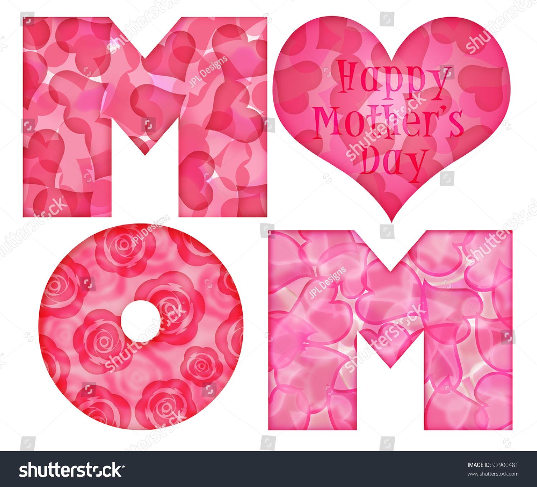 Royalty Free Stock Illustration Of Happy Mothers Day Mom Alphabet