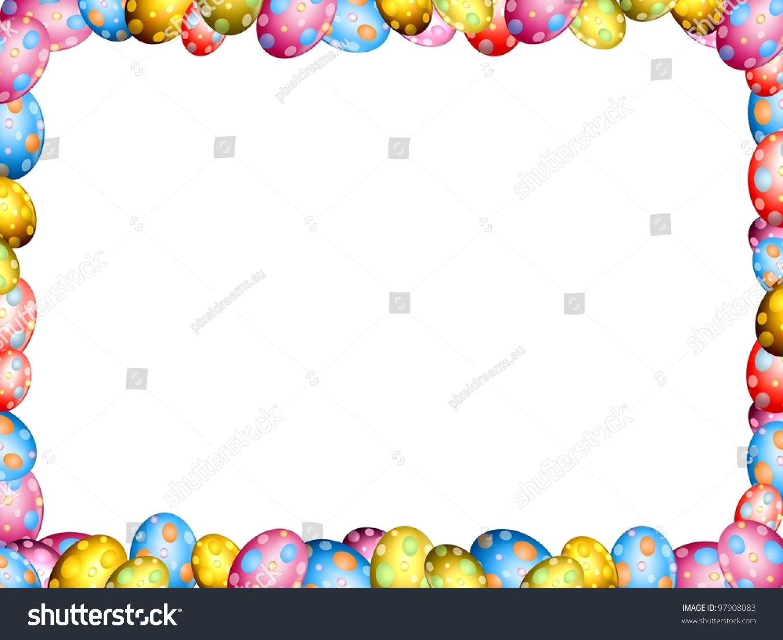 Easter Eggs Border Frame Illustration Stock Illustration 97908083 ...