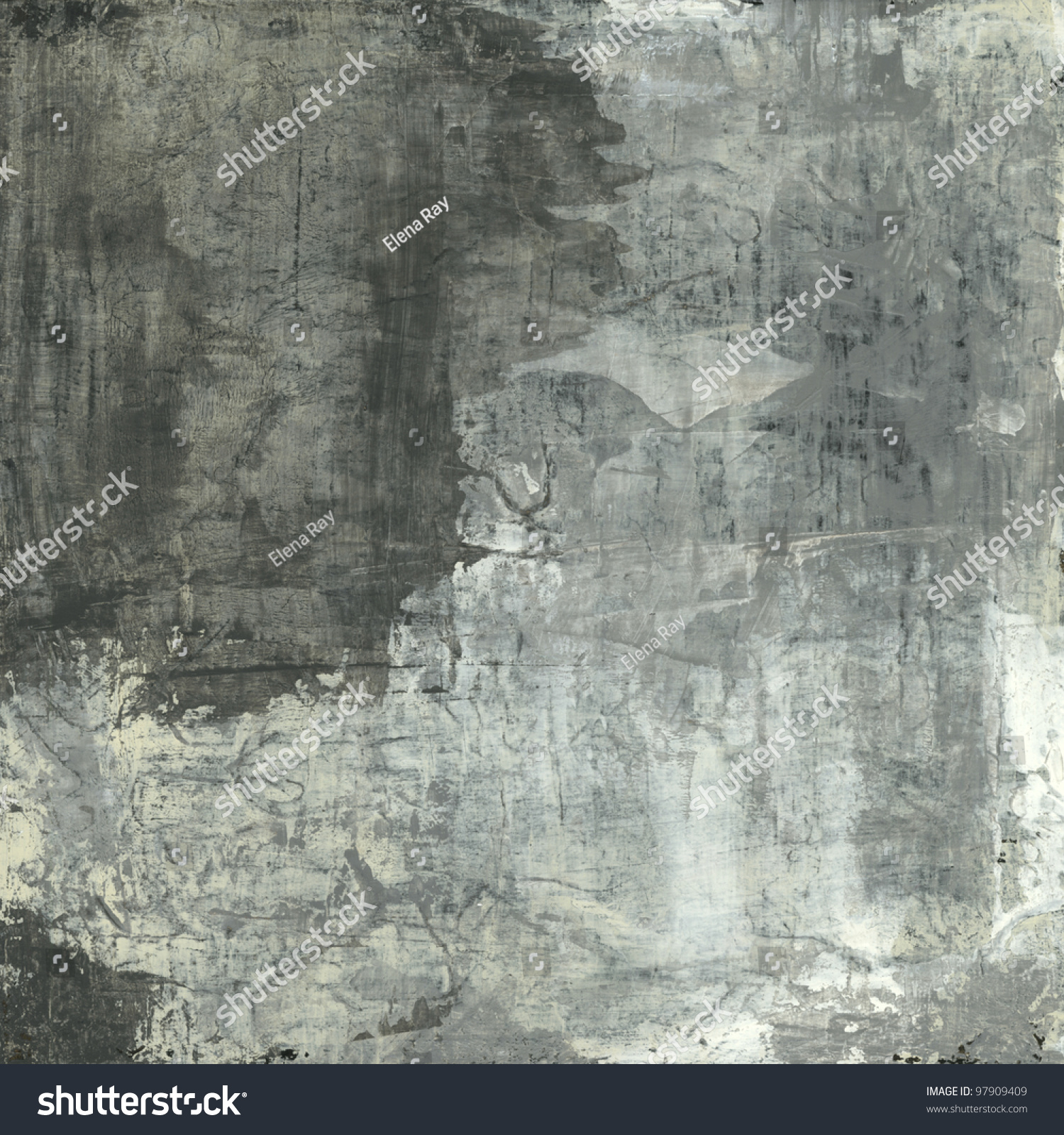 Abstract Painting With Neutral And Grey Tones Stock Photo