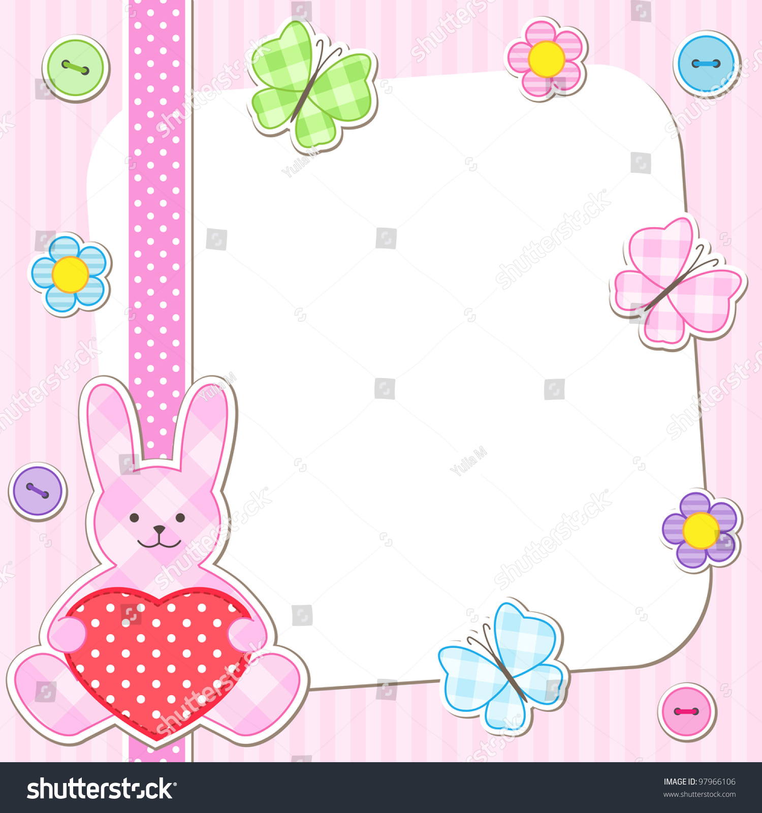 Rabbit cards pink girl birthday card stock vector 2018 97966106 rabbit cards in pink for girl birthday card baby shower invitation arrival announcement etc bookmarktalkfo Images