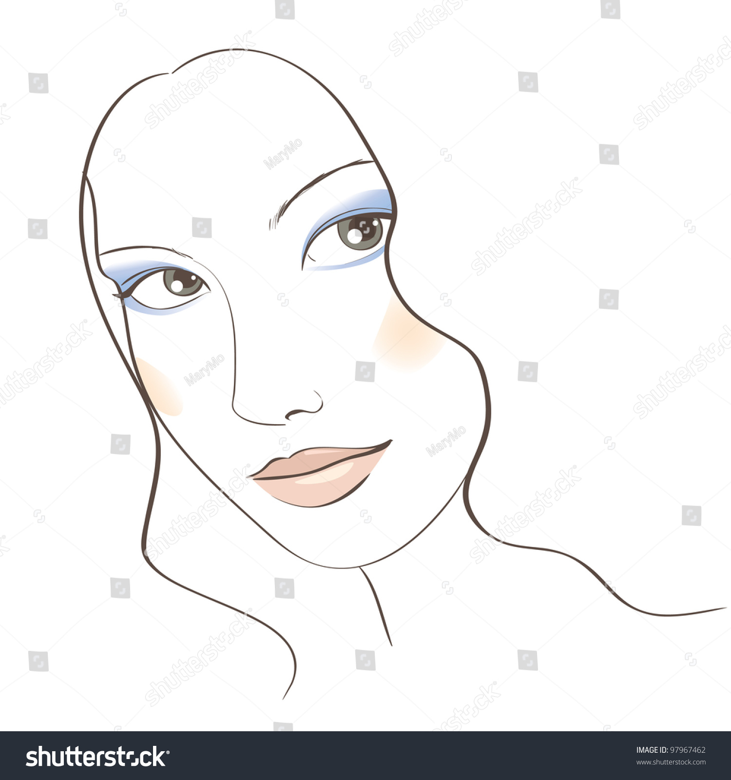 Face Sketch With Make Up How To Create Quick Vector Art In Photoshop