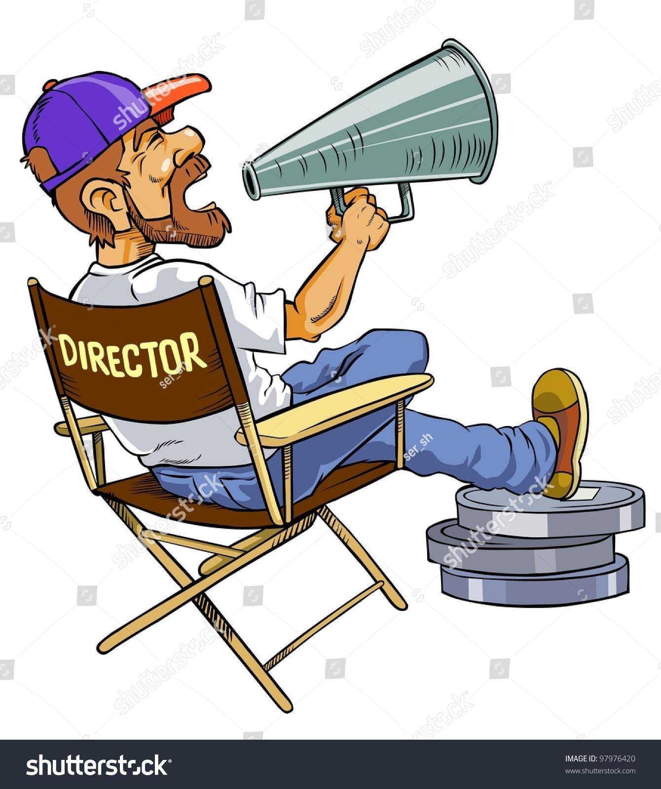 Cartoon Movie Director Stock Photo 97976420 Shutterstock