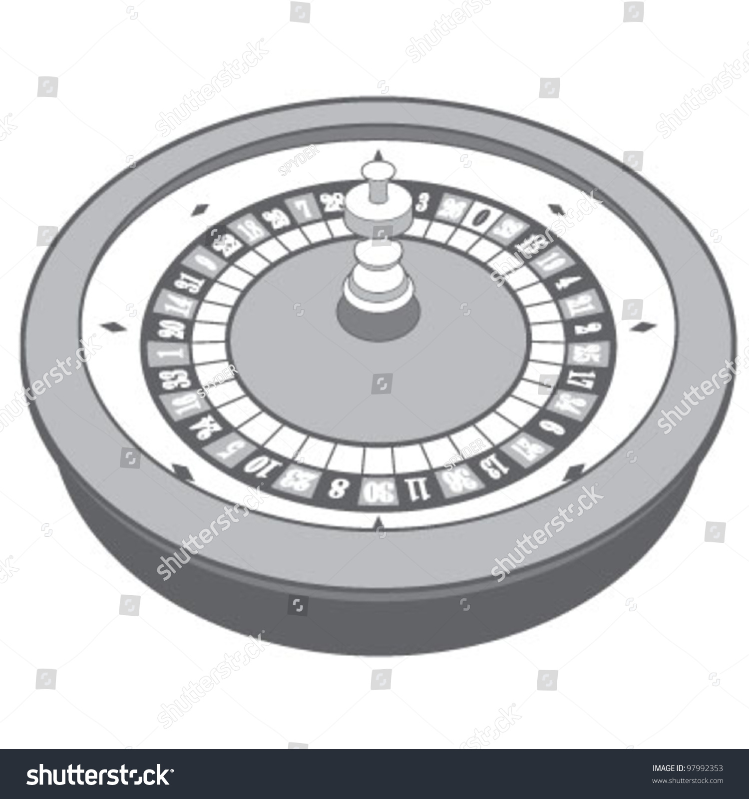 free roulette wheel vector