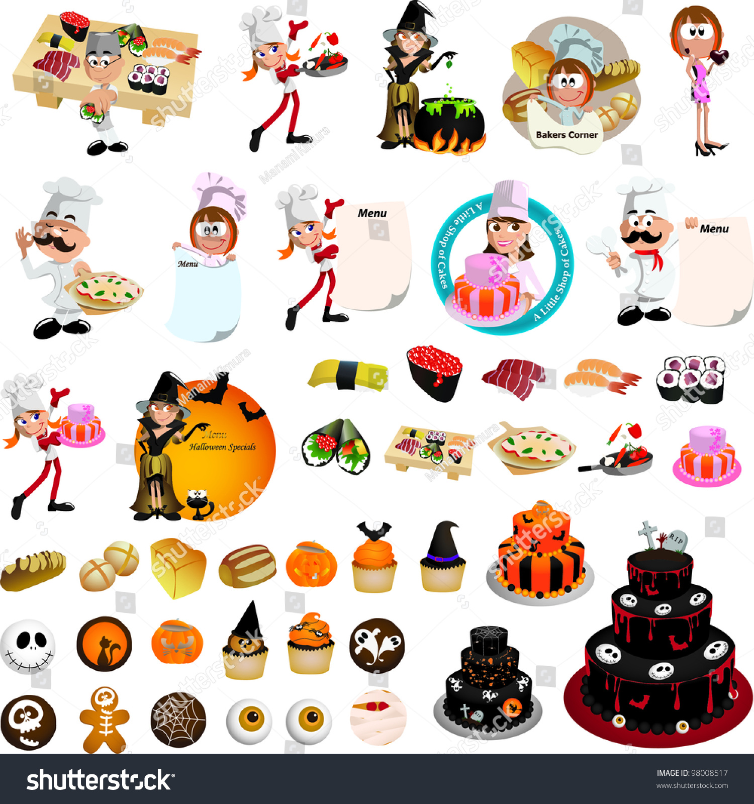For restaurant pictures graphics illustrations clipart photos - Restaurant Cooking Graphic Design Elements For Menu Wallpaper Vector