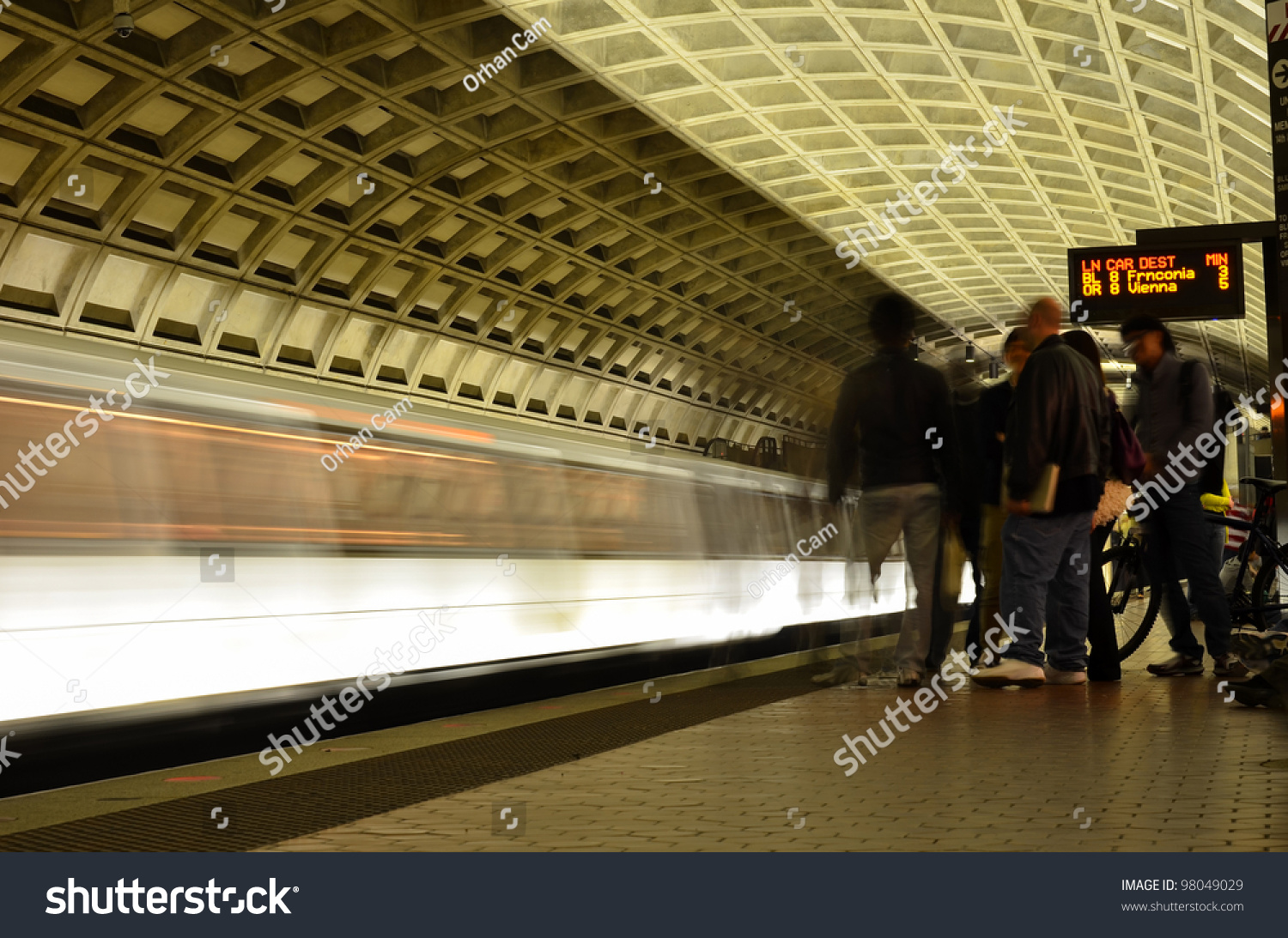 metro station interior in washington dc united states stock photo 98049029 shutterstock. Black Bedroom Furniture Sets. Home Design Ideas