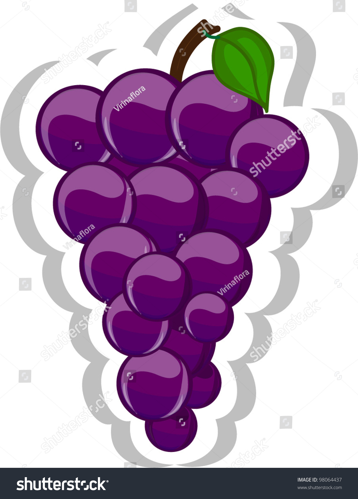 Cartoon Grape Stock Vector Illustration 98064437 ...