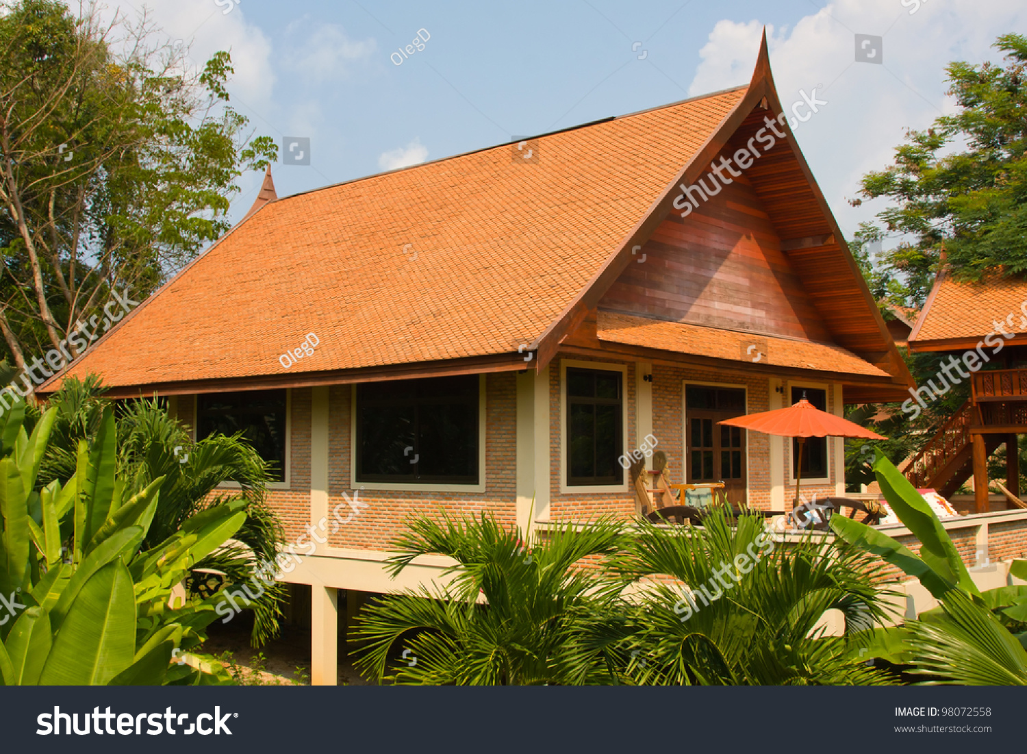 Tropical Island Beach House: Tropical Beach House On The Island Koh Mak, Thailand Stock