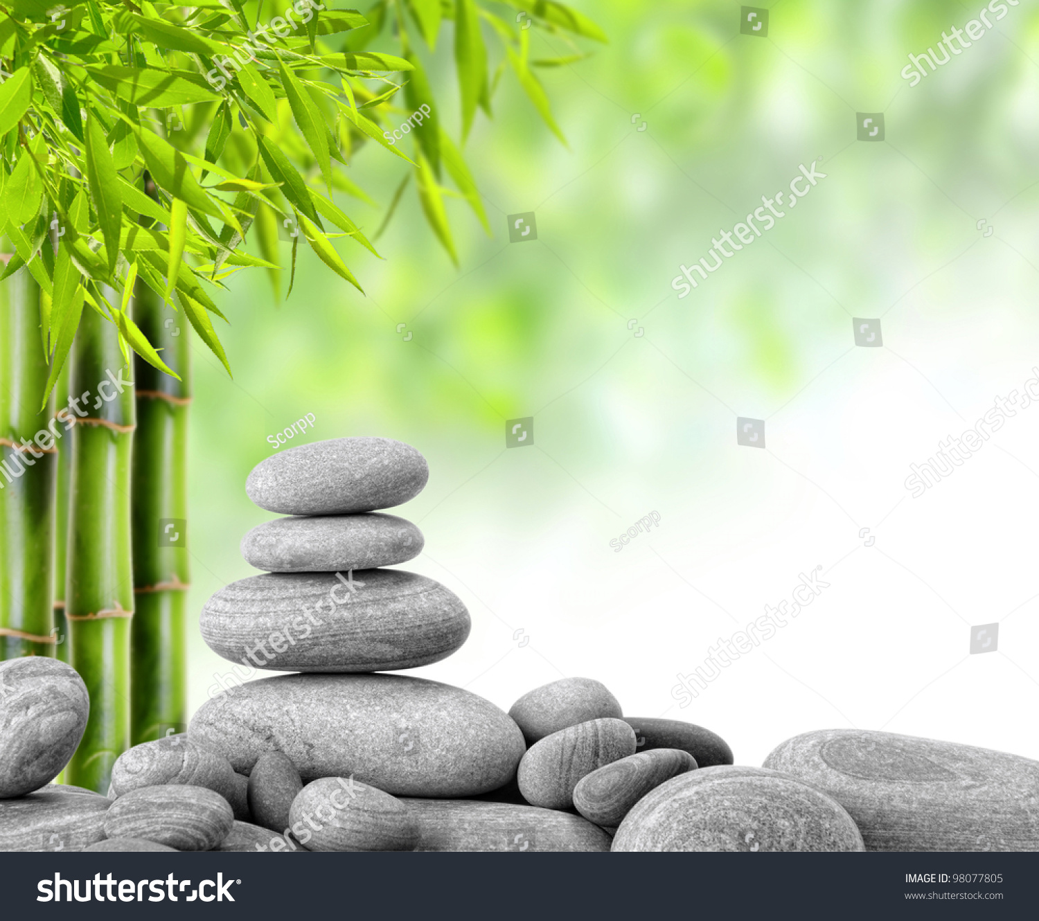 zen stones and bamboo - photo #19