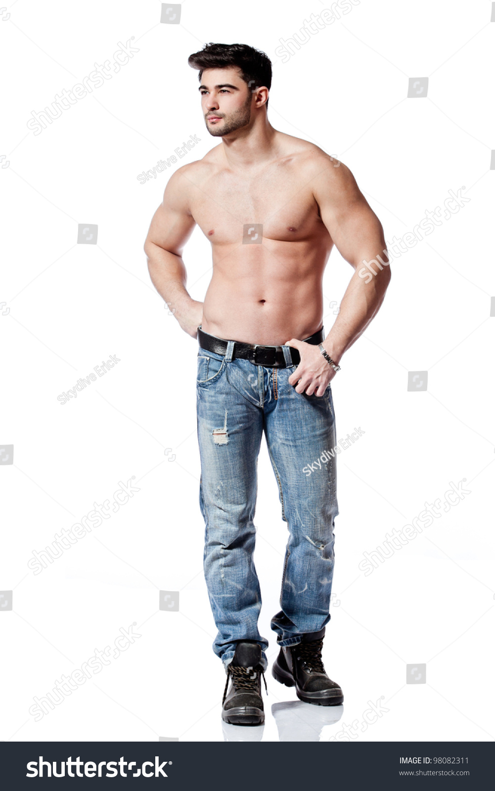Full Body Shot Handsome Young Man Stock Photo 98082311