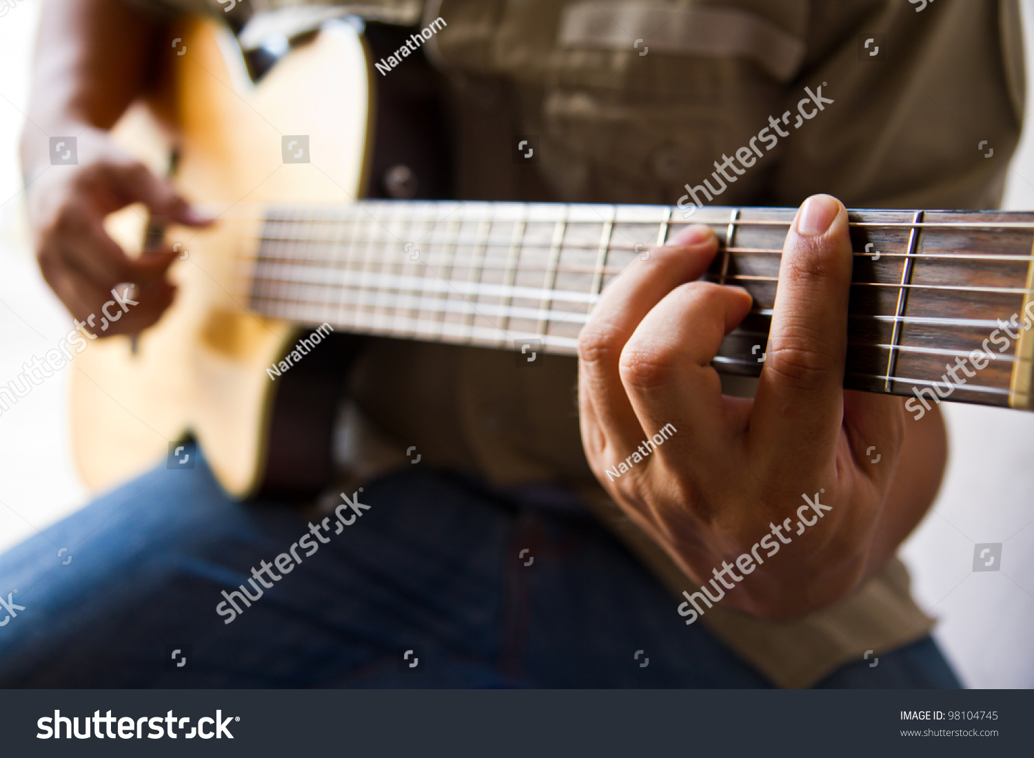 Playing Guitar F Chord Stock Photo Edit Now 98104745 Shutterstock