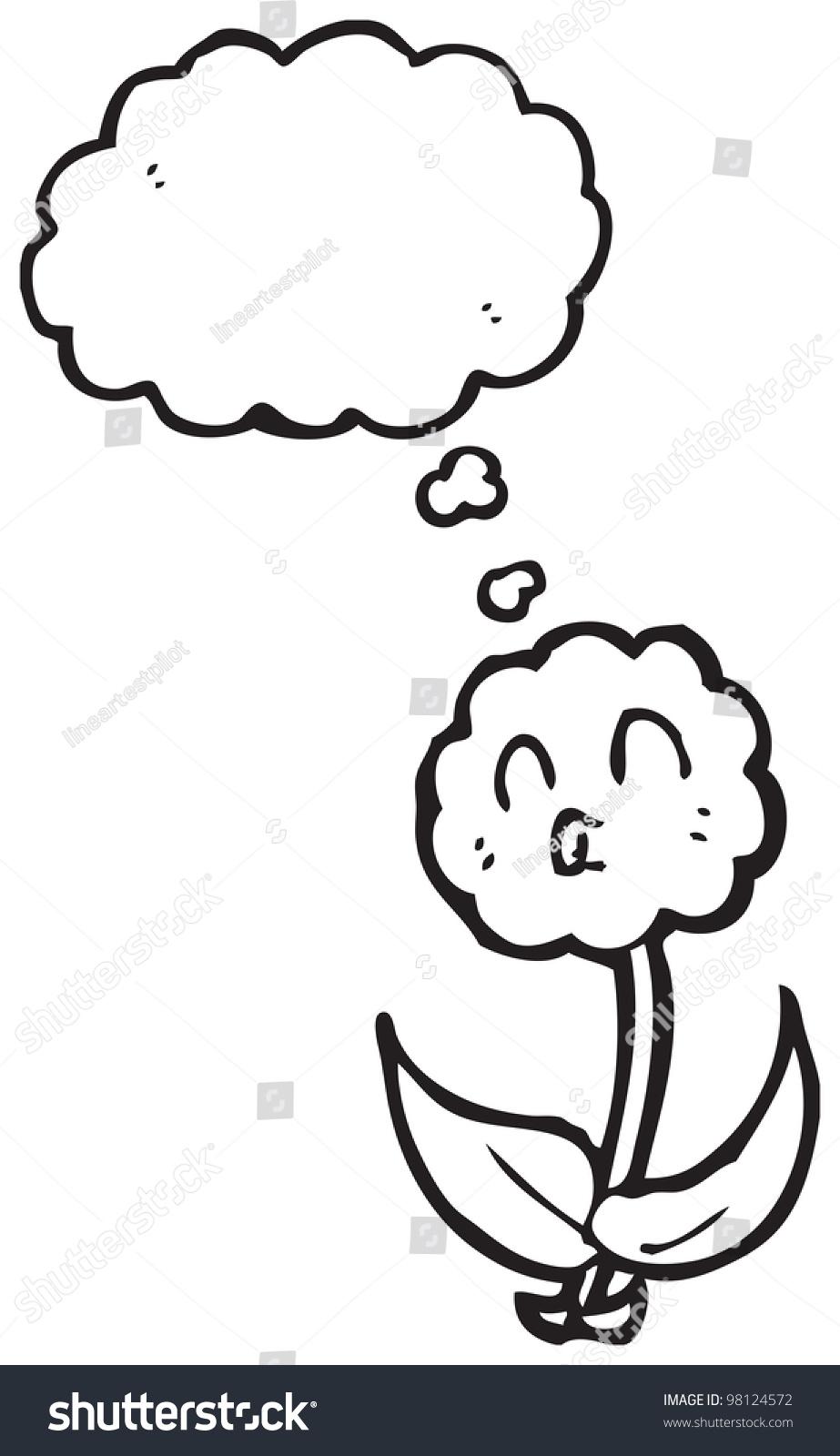 Cartoon Man Eating Flower With Speech Bubble Ez Canvas