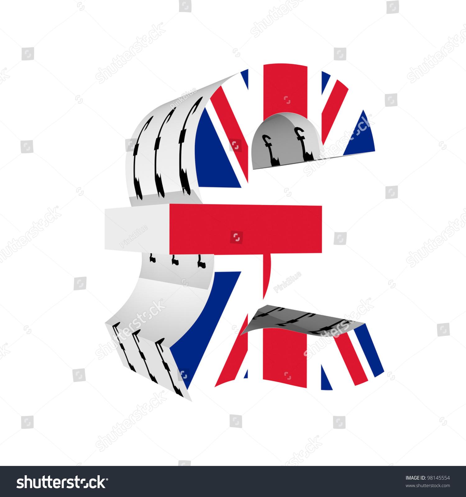 Pound symbol uk flag 3d isolated stock illustration 98145554 pound symbol with uk flag 3d isolated on white background buycottarizona