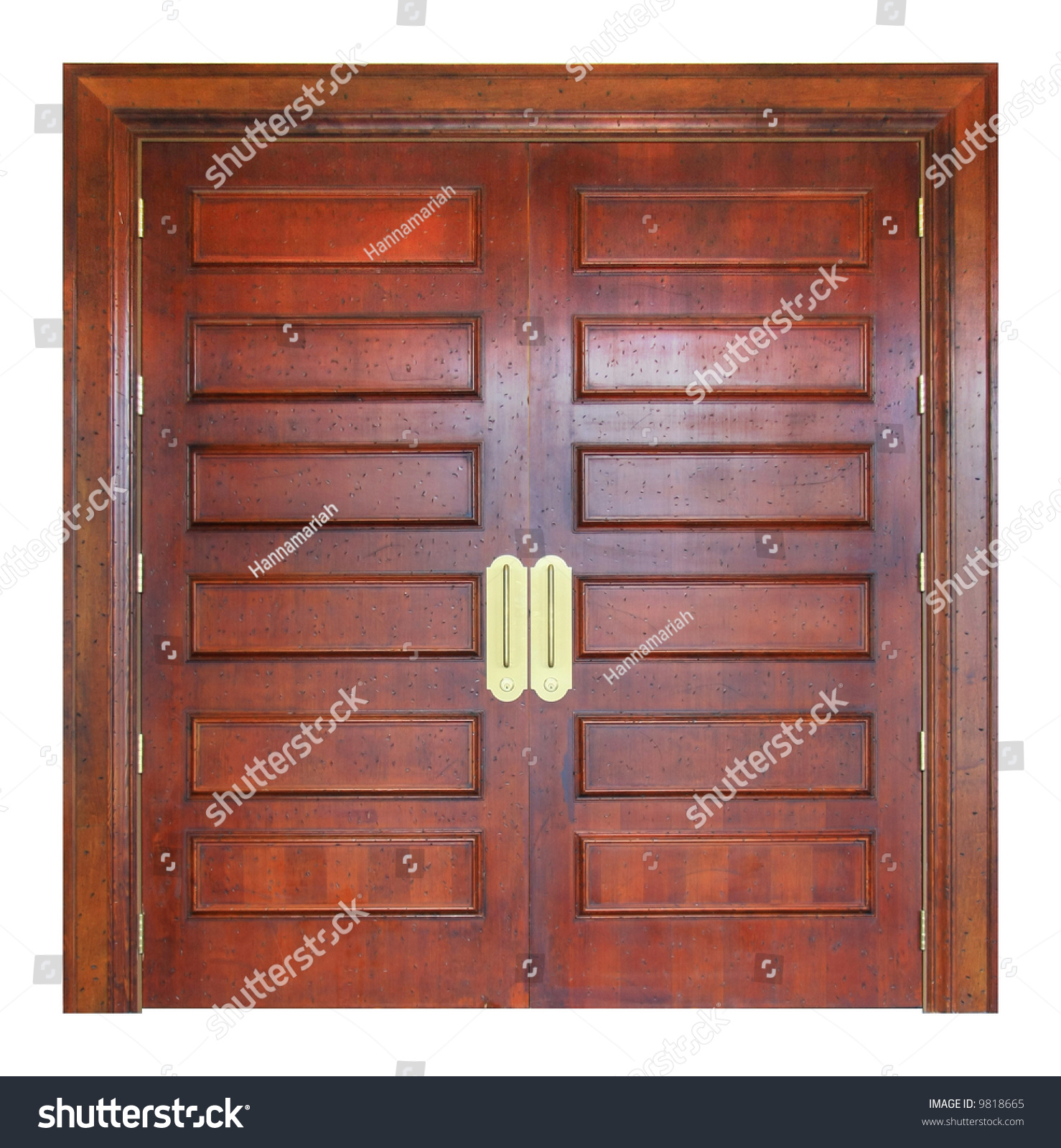 Large solid wooden double doors entry stock photo 9818665 for Large double doors exterior