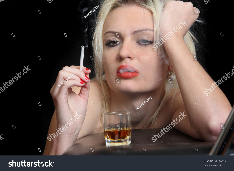 girl drinks whisky smokes -#main