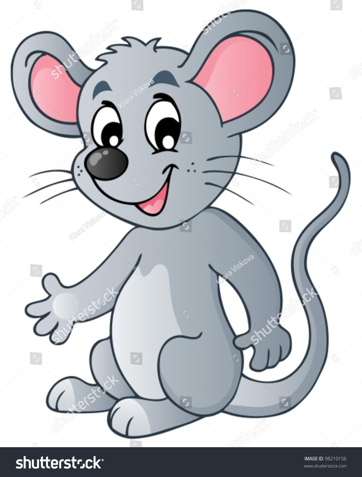 Cute Cartoon Mouse Vector Illustration Stock Vector ...