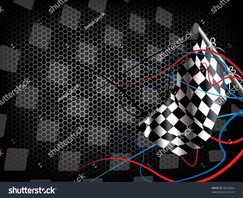Racing background stock vector 98239826 shutterstock - Car racing wallpaper free download ...