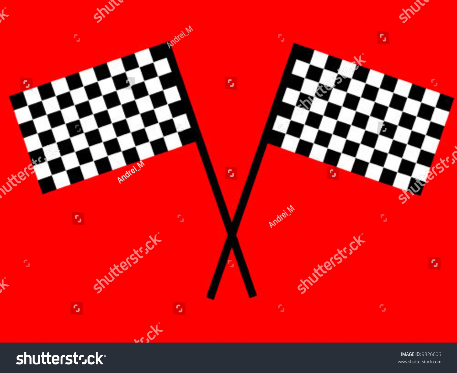 Checkered Flag On Red Background Stock Vector Illustration ...