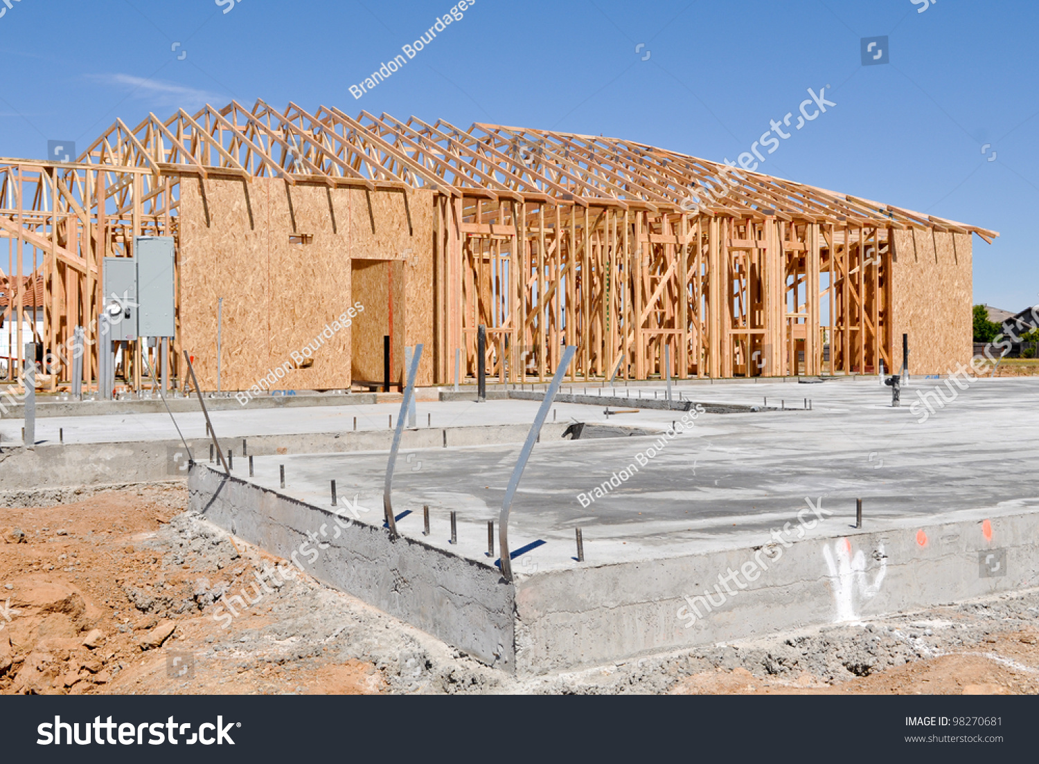 New home foundation stock photo 98270681 shutterstock for New home foundation