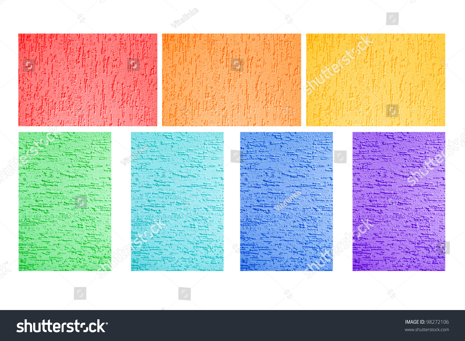 colorful painted walls all colors rainbow stock photo edit now