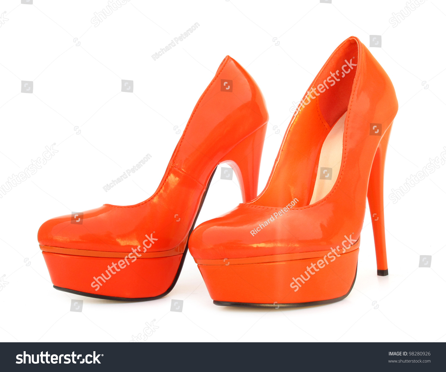 Orange High Heels Pump Shoes Stock Photo 98280926 - Shutterstock
