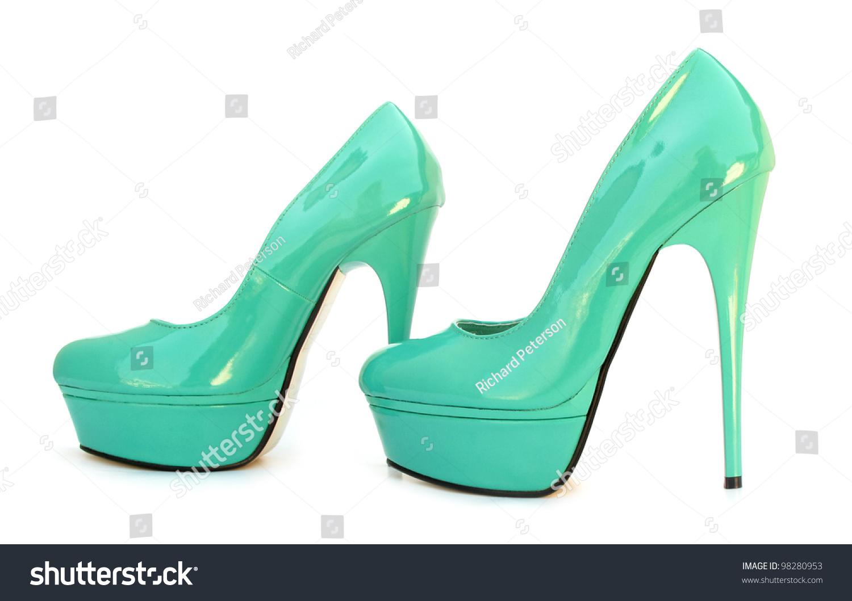 Sky Blue Blue High Heels Pump Stock Photo 98280953 - Shutterstock
