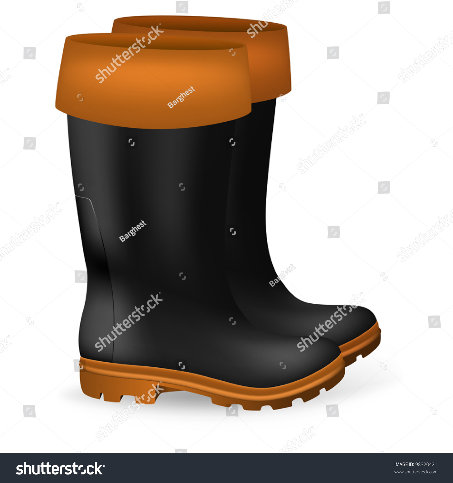 Blank safety rubber boots template stock vector 98320421 shutterstock blank safety rubber boots template maxwellsz