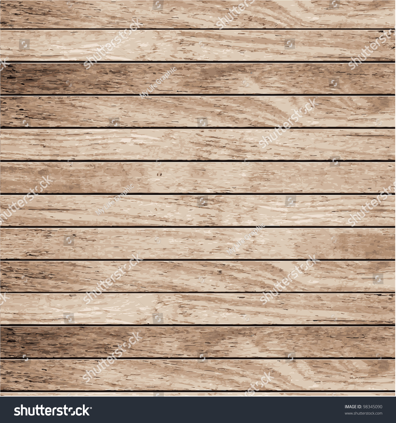 Wood Plank Background ~ Vector wood plank background stock