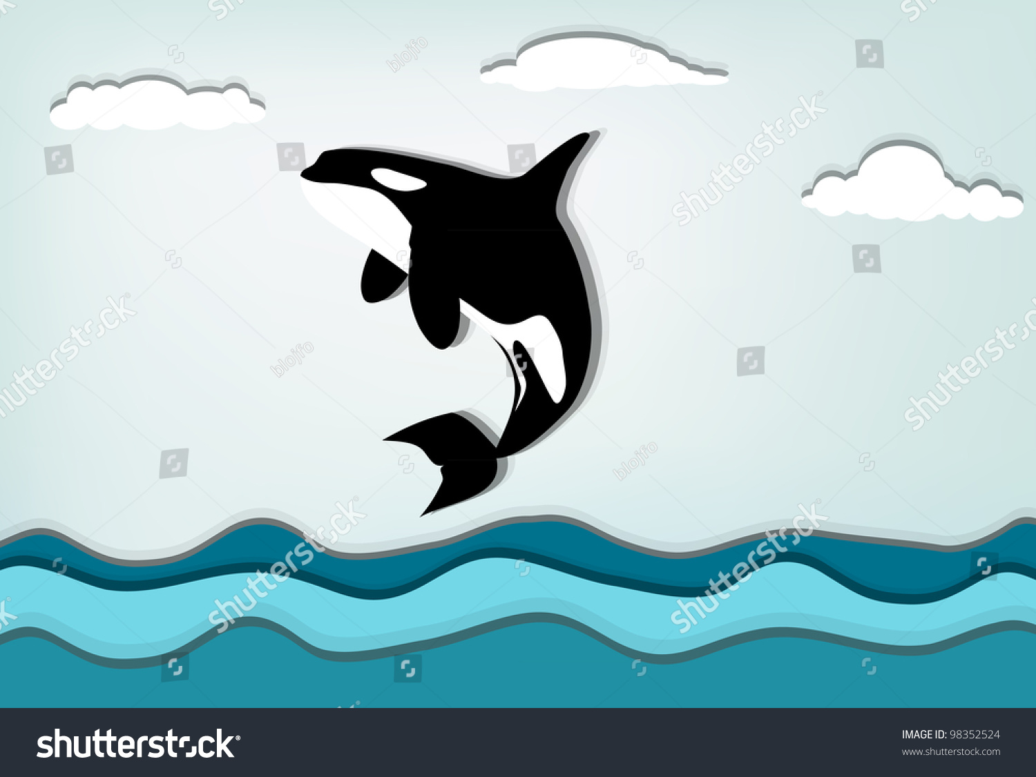 Gallery For gt Orca Whale Jumping Drawing