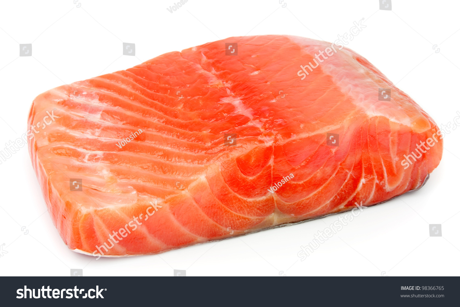 Piece of red fish fillet on white stock photo 98366765 for Red fish fillet