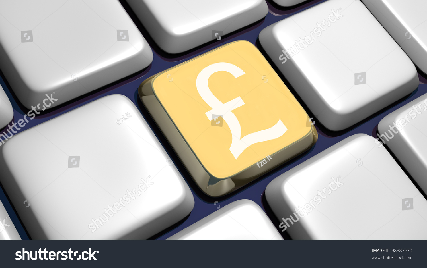 Keyboard Detail Pound Key 3 D Made Stock Illustration 98383670