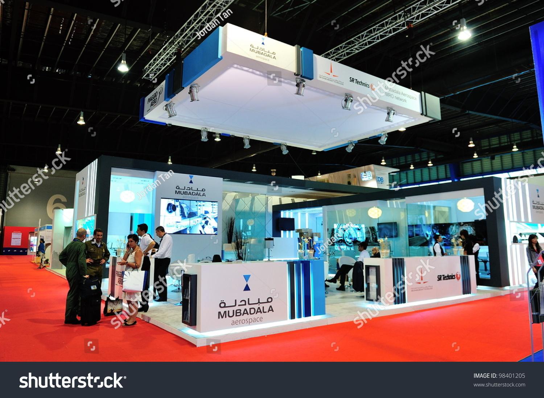 Exhibition Booth Singapore : Singapore february mubadala aerospace exhibition stock