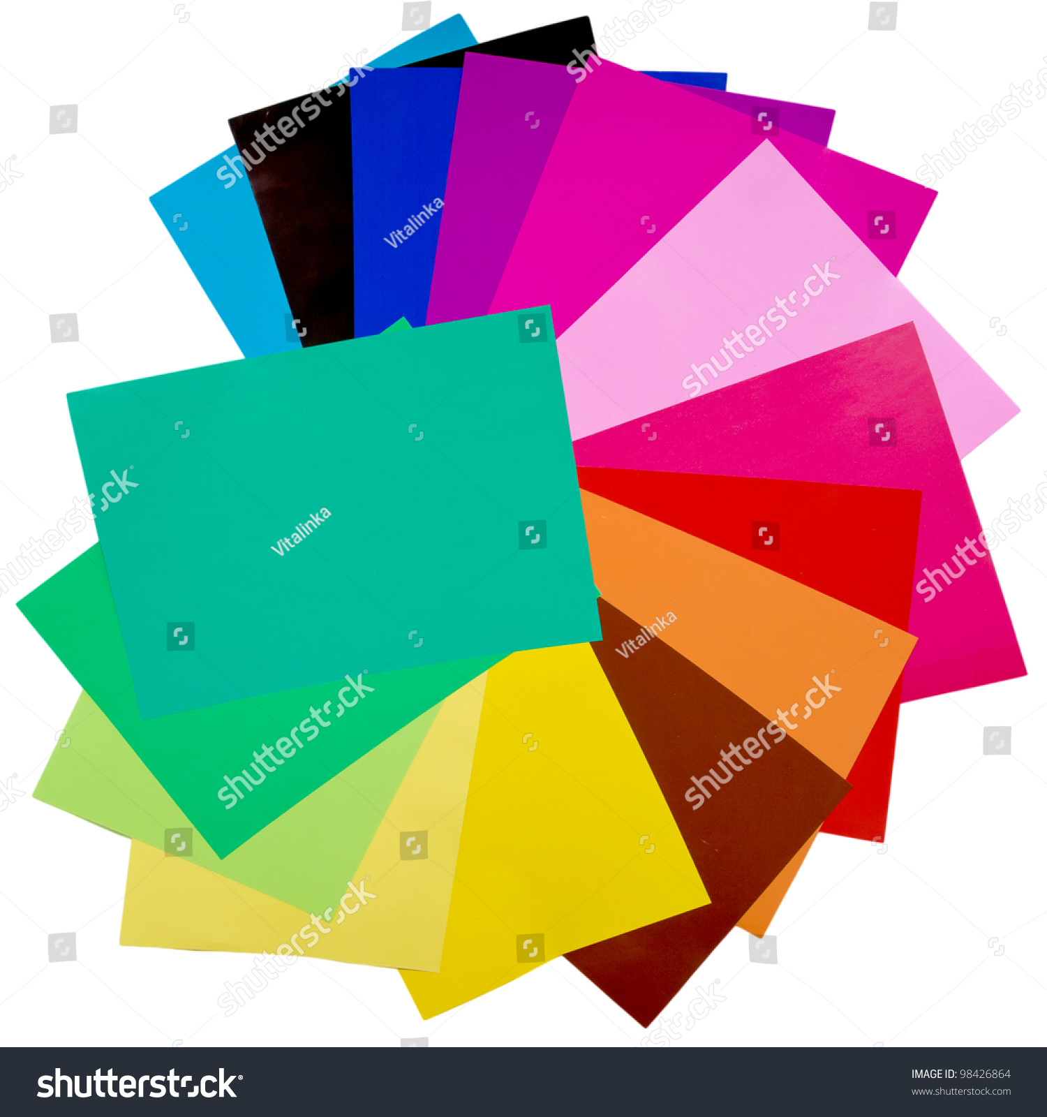 Colorful Origami Fan Pattern Made Curved Stock Photo Edit Now