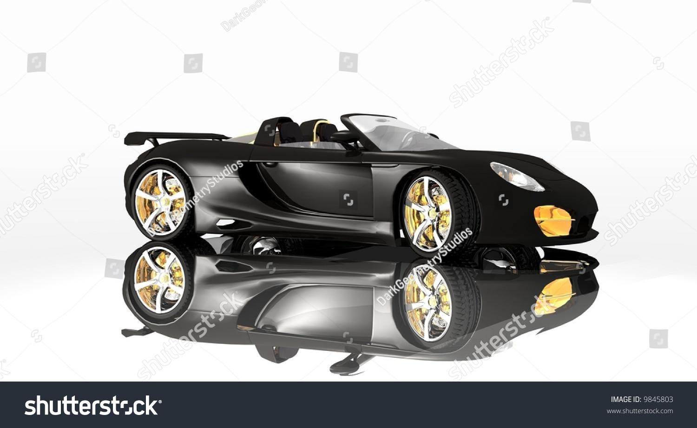 Sports Car Black Paint Designd Designer Stock Illustration - Simple sports car