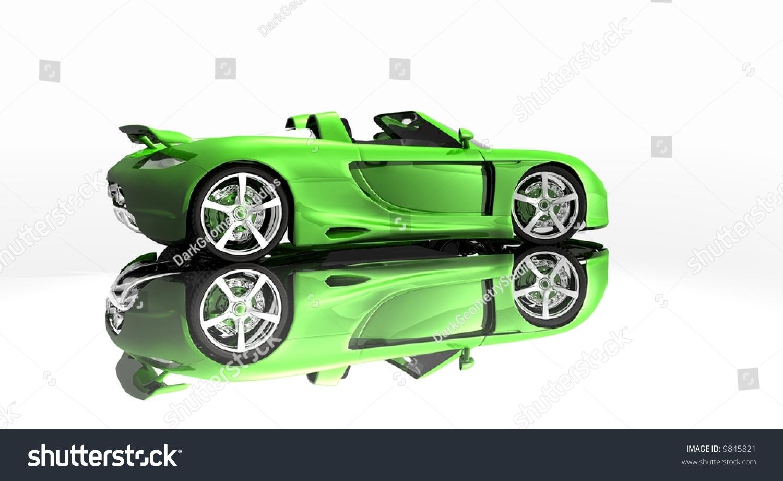 Sports Car Green Paint Designd Designer Stock Illustration - Simple sports car