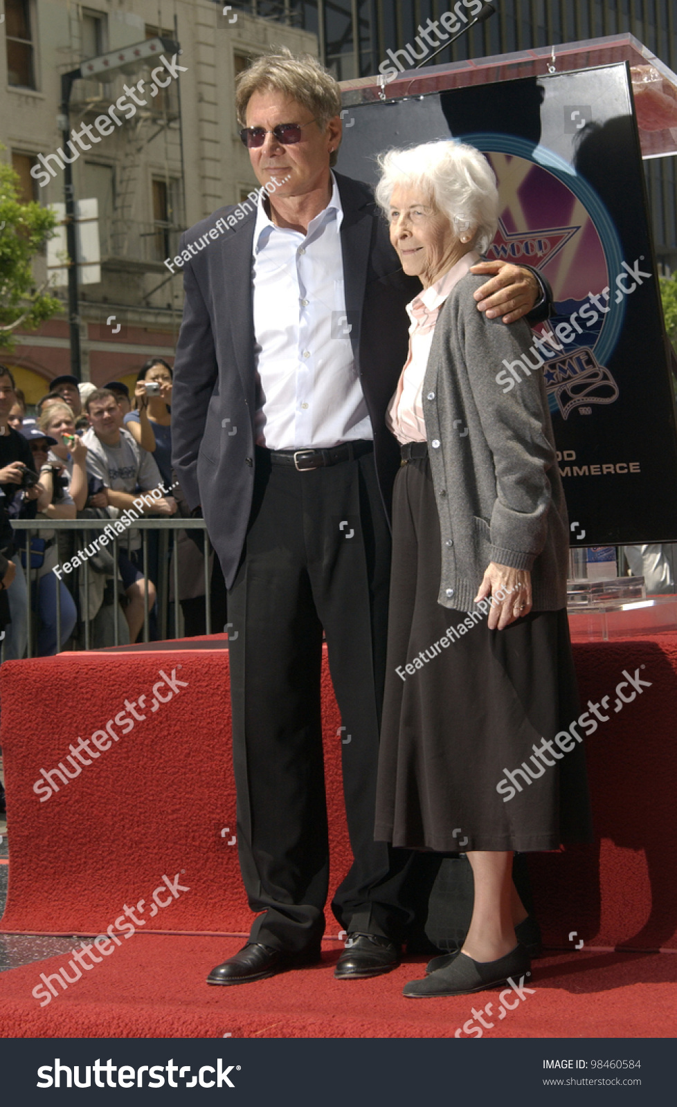 Actor Harrison Ford & Mother On Hollywood Boulevard Where ...