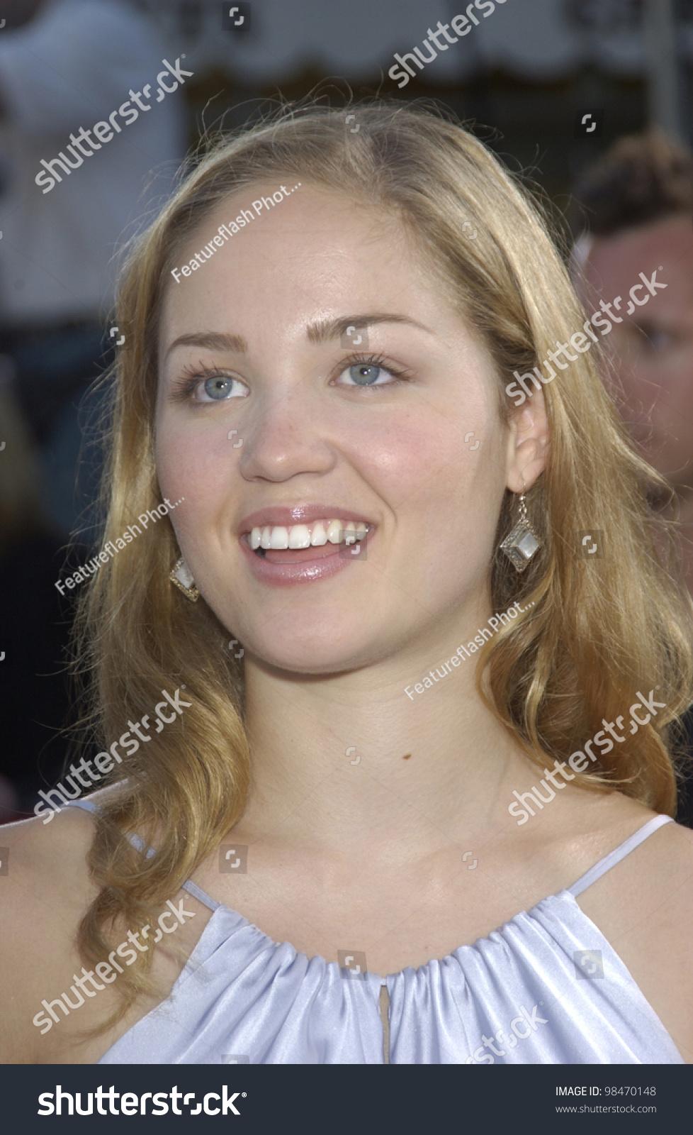 actress erika christensen world premiere terminator stock photo