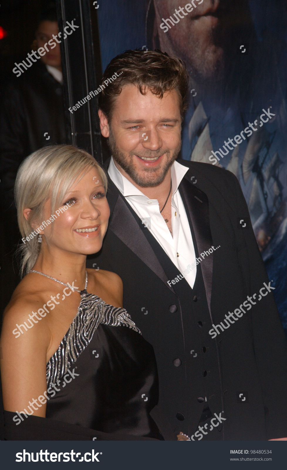 Actor Russell Crowe Wife Danielle Spencer Stock Photo (Edit Now