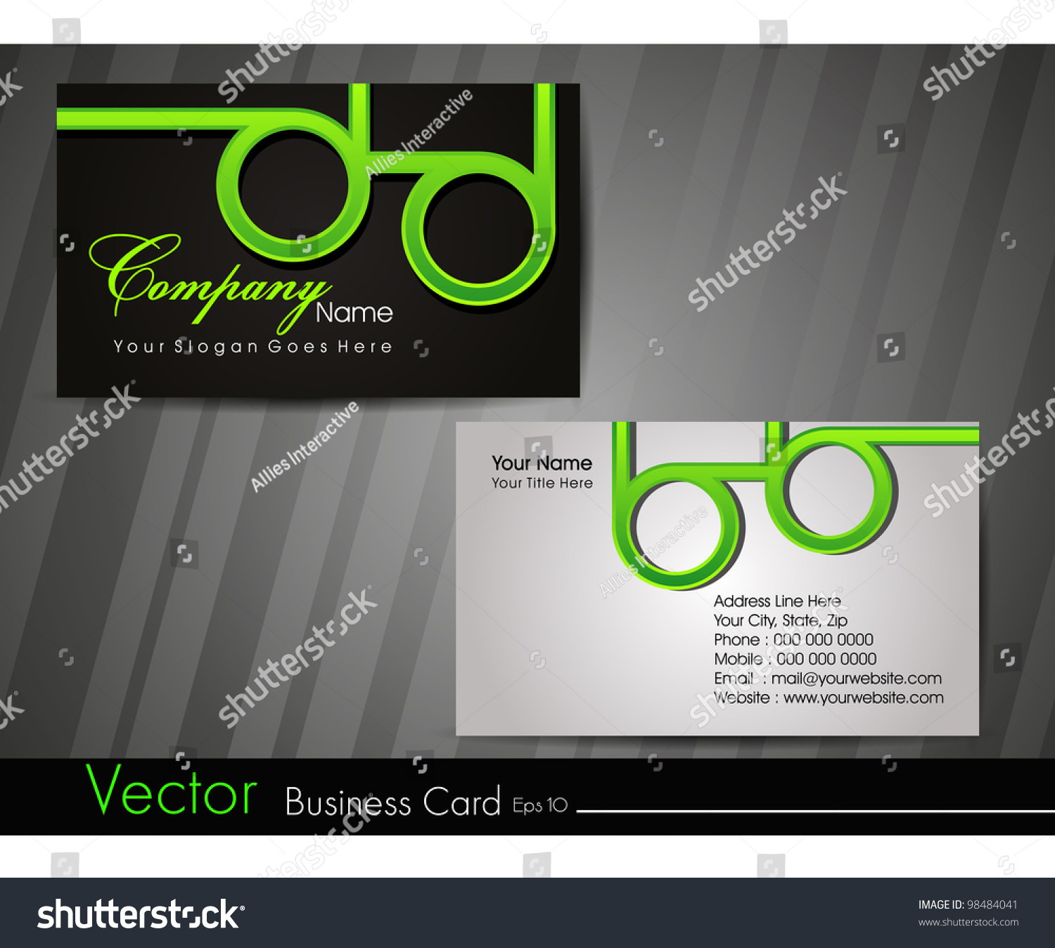 Professional Business Card Set Visiting Card Stock Vector Royalty