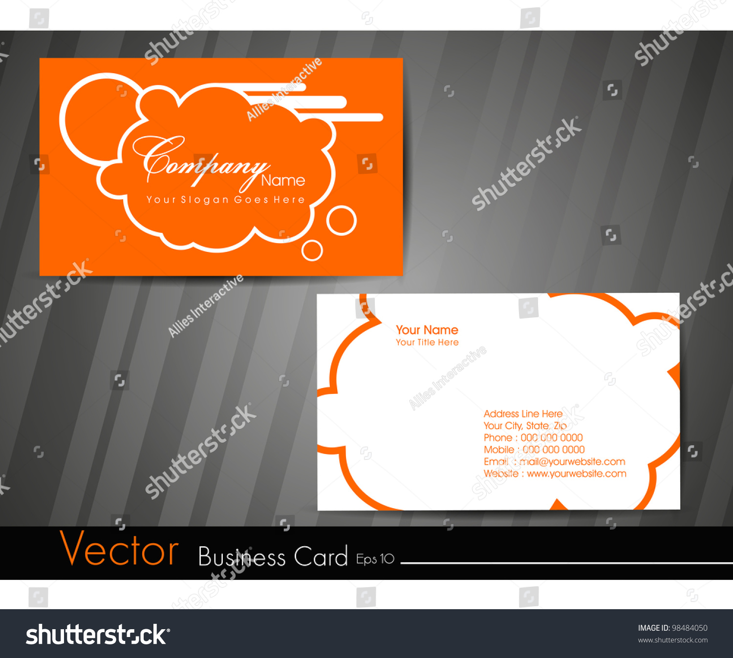 professional business card set visiting card stock vector