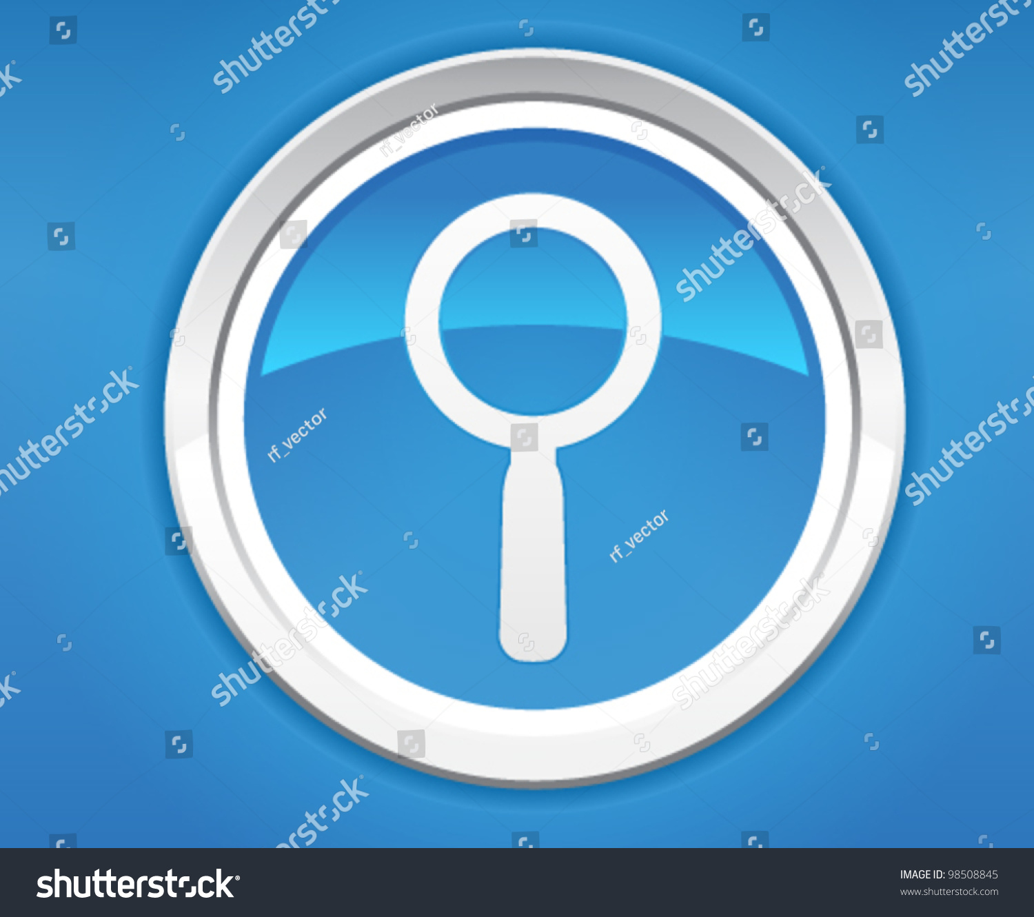 magnifying glass icon blue - photo #49