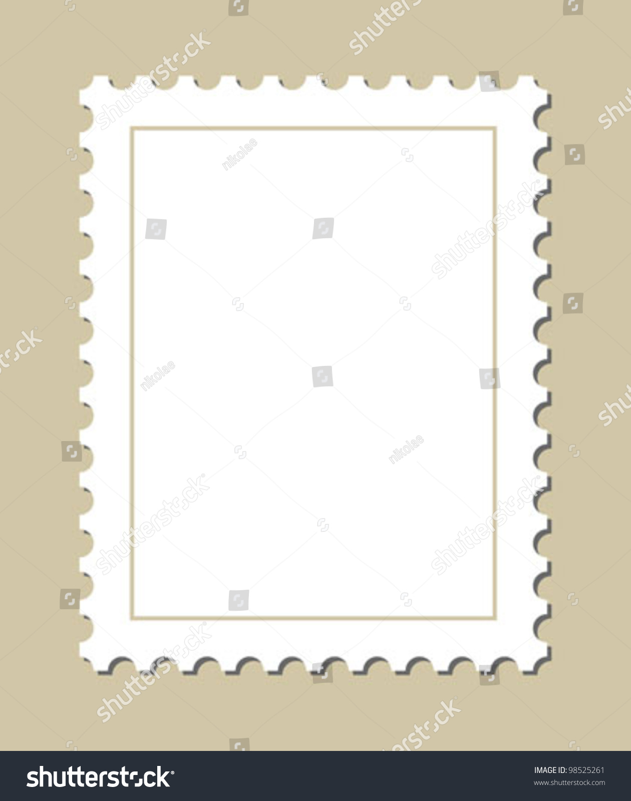 blank stamp template stock vector royalty free 98525261 shutterstock
